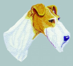Wire Fox Terrier embroidery design
