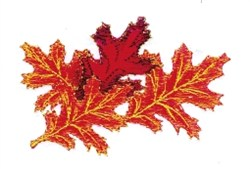 Autumn Oak Leaves embroidery design