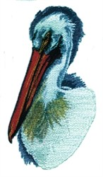 Pelican Bust embroidery design