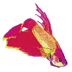 Japanese Fighting Fish embroidery design