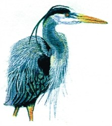 Heron embroidery design
