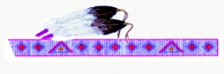 Beaded Strip & Feathers embroidery design