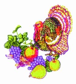 Turkey embroidery design