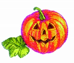 Jack O'Lantern embroidery design