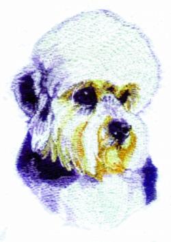 Dandie Dinmont Terrier embroidery design