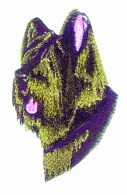 Briard embroidery design