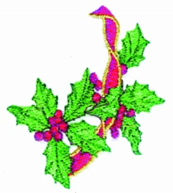 Holly EndPiece embroidery design