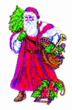Old Time Santa embroidery design