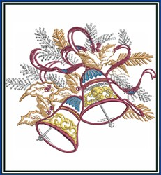 Bells embroidery design