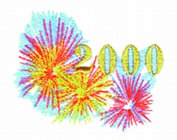 Year 2000 embroidery design