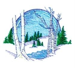 Snowy Winter Scene embroidery design