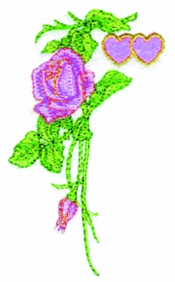 Valentine Rose embroidery design