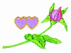 Valentine Rosebud embroidery design