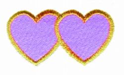 Interlocking Hearts embroidery design