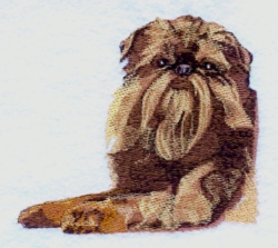 Brussels Griffon embroidery design