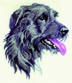 Irish Wolfhound embroidery design