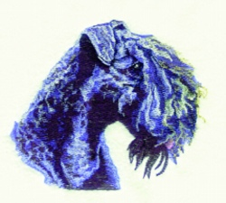 Kerry Blue Terrier embroidery design