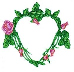 Rose Vine Heart embroidery design