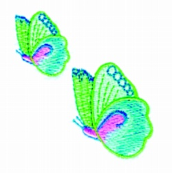 Two Butterflys embroidery design