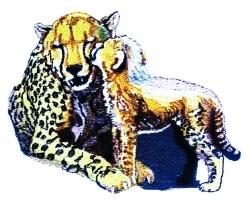 Cheetah & Cub embroidery design