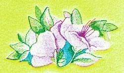 Azaleas embroidery design
