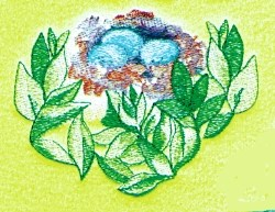 Robins Nest embroidery design