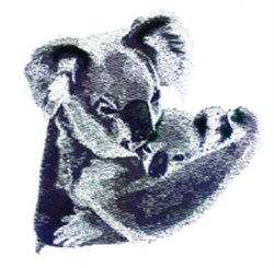 Koala & Baby embroidery design