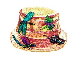 Fishing Lure Hat embroidery design