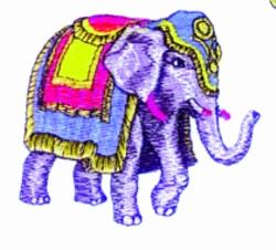 Parade Elephant embroidery design