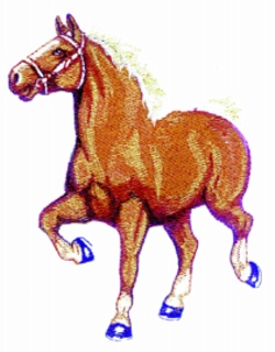 Belgian Horse embroidery design