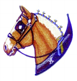 Belgian Head embroidery design