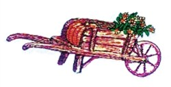 Vintage Wheelbarrow embroidery design