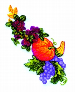 Thanksgiving Spray embroidery design