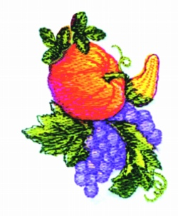 Fall Spray embroidery design