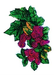 Raspberry Bunches embroidery design