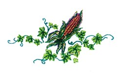 Corn & Ivy embroidery design
