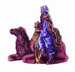 Wiseman embroidery design