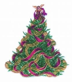Victorian Tree embroidery design