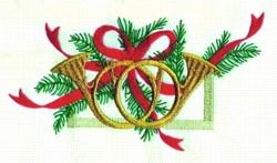Christmas Horns embroidery design