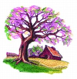 Spring Farm Scene embroidery design