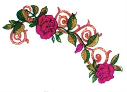 Rose Filigree Spray embroidery design