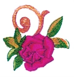 Rose Filigree Endpiece embroidery design