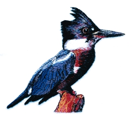 Kingfisher embroidery design