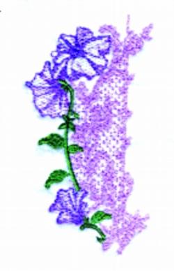 Petunia Lace Border embroidery design