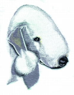 Bedlington Terrier embroidery design