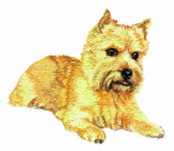 Norwich Terrier embroidery design
