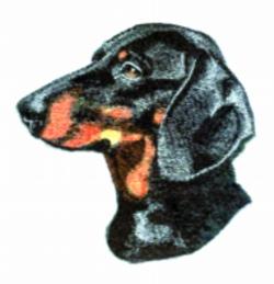 Dachshund embroidery design