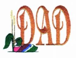 Dad Mallard embroidery design