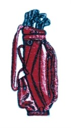 Bag Golf Clubs embroidery design