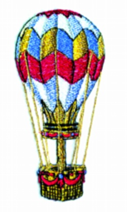 Balloon embroidery design